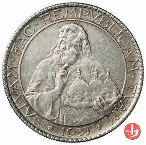 Prova 20 lire 2° tipo 1937 (Roma)