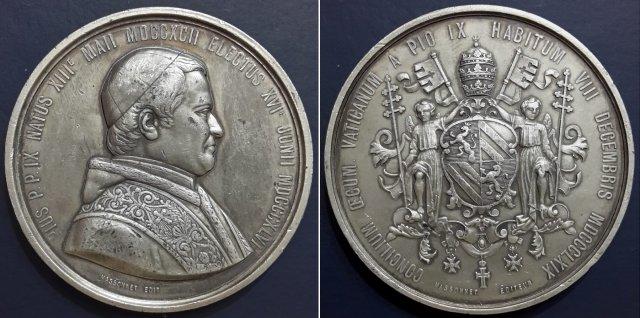 Concilio Ecum. -Stemma di Pio IX -B37 1869