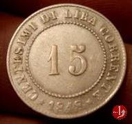 15 centesimi di lira corrente 1848 (Venezia)