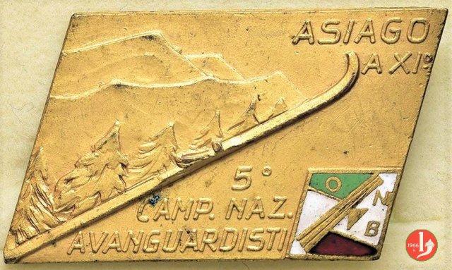 Asiago - 5° Campionato Nazionale Avanguardisti 1933