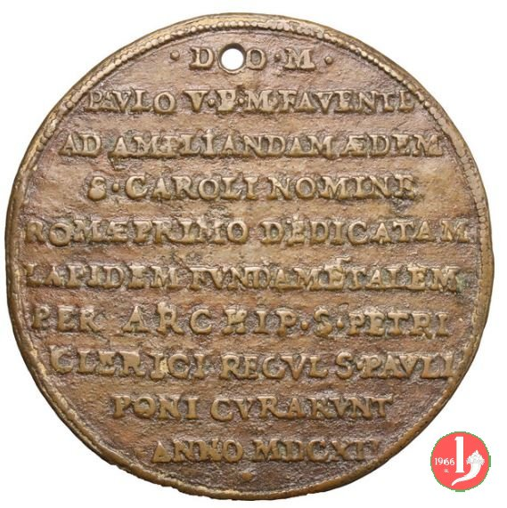posa della prima pietra nella chiesa di S. Carlo a 1612