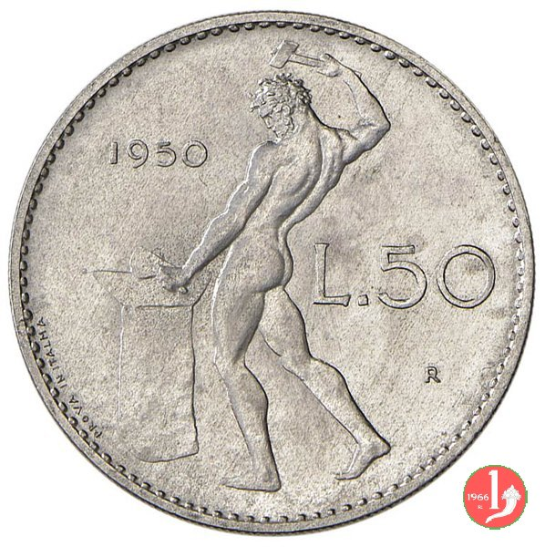 prova 50 lire 1950 in italma 1950 (Roma)