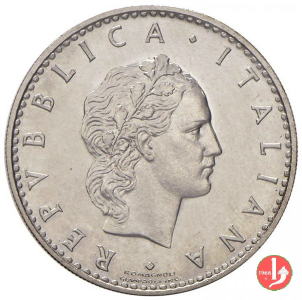 prova 50 lire 1950 in nichel 1950 (Roma)