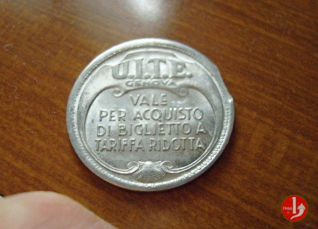 Genova - UITE Biglietto a Tariffa Ridotta 1944