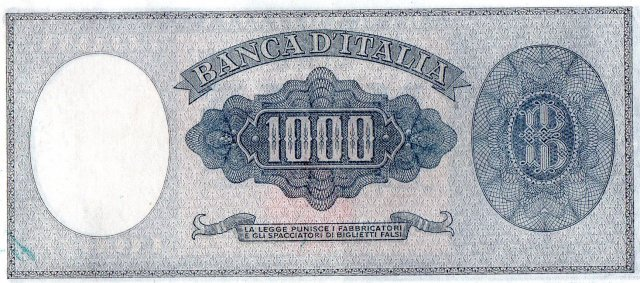 1.000 lire Busto d'Italia 1949