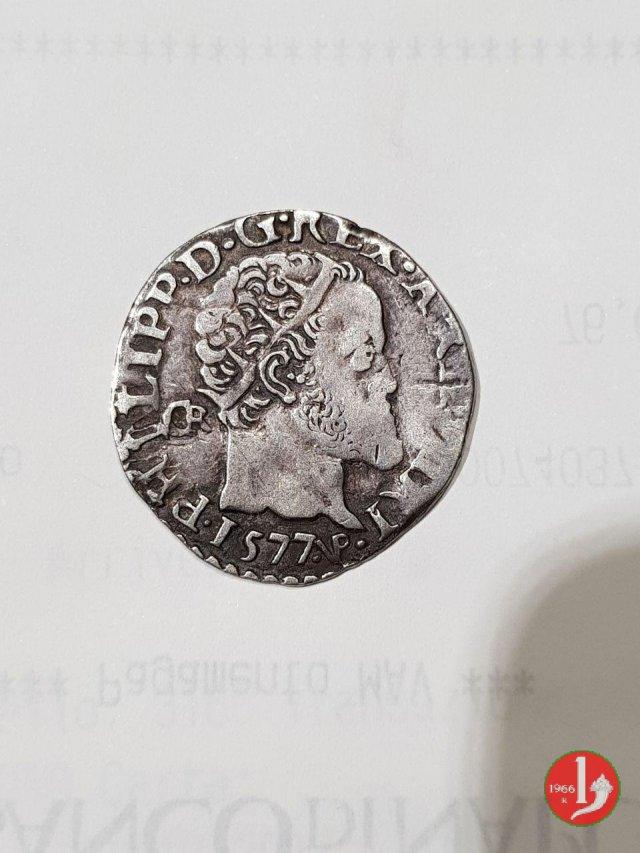 Carlino 3° tipo 1577 (Napoli)