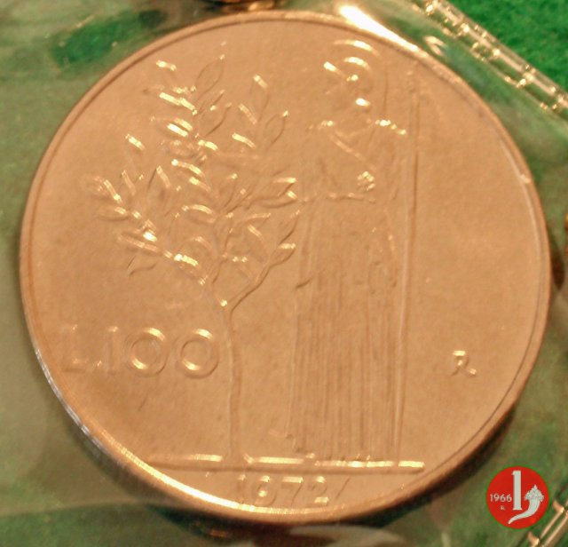 100 lire Minerva 1972 (Roma)