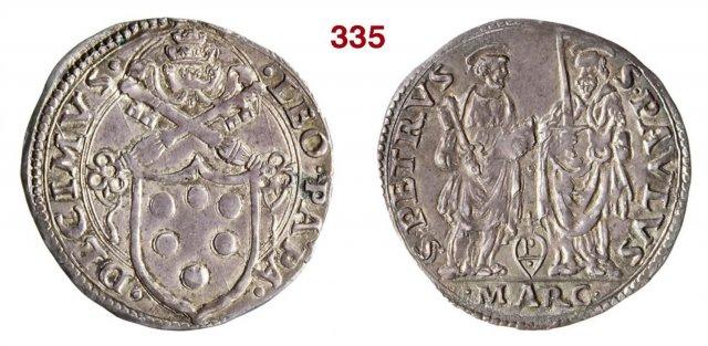 Giulio (Scudo semiovale - S.Pietro a s.) 1513-1521 (Ancona)