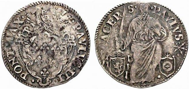 Giulio (senza data) - Spada eretta - Mazzei 1534-1549 (Macerata)