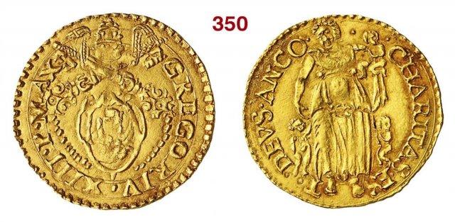 Scudo d'oro (senza data - Stemma) 1572-1585 (Ancona)