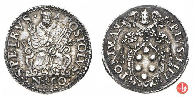 Testone (1563 - III t.) 1563 (Ancona)