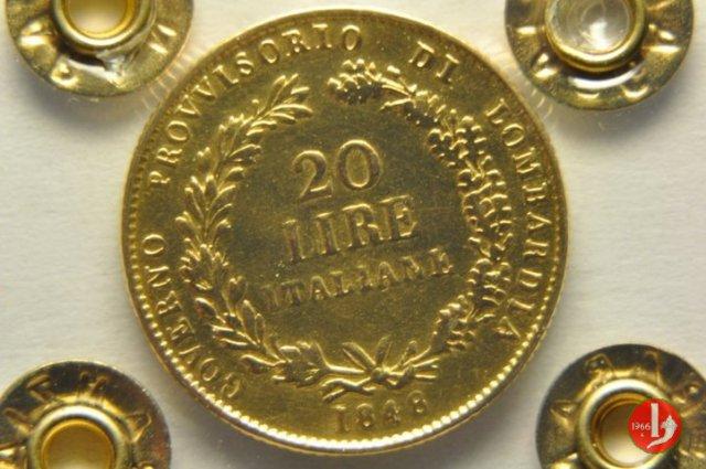 20 lire italiane 1848 (Milano)