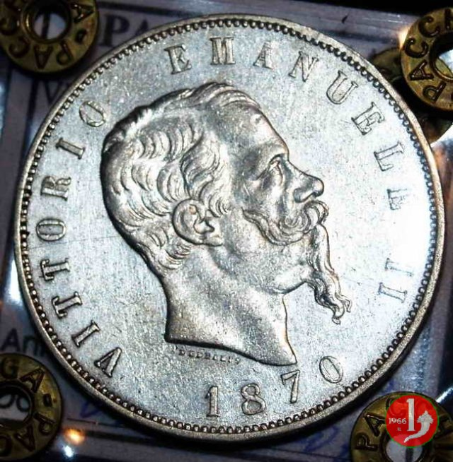5 lire o scudo 1870 (Roma)