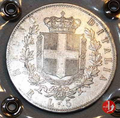 5 lire o scudo 1875 (Roma)