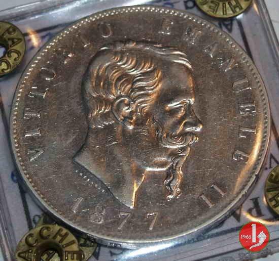 5 lire o scudo 1877 (Roma)