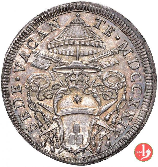 Mezza piastra 1724 (Roma)