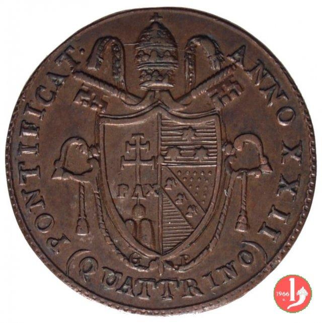 Quattrino del 4° tipo 1821 (Roma)