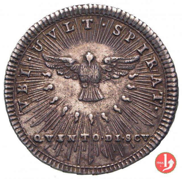Quinto di scudo 1758 (Roma)
