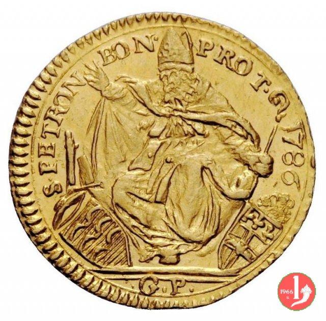 mezzo zecchino 1786 (Bologna)