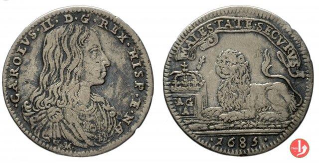 Carlino con leone 1685 (Napoli)