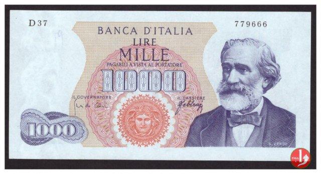 1.000 lire Giuseppe Verdi - Primo tipo 1965
