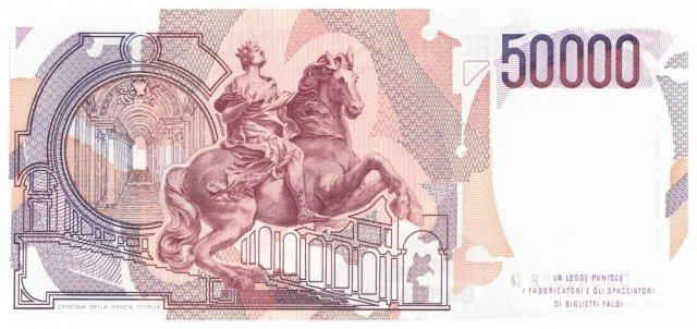 50.000 lire Bernini 1986