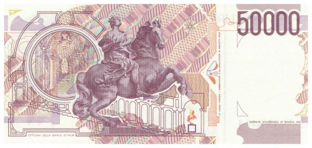 50.000 lire Bernini 1995