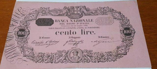 100 Lire 1886