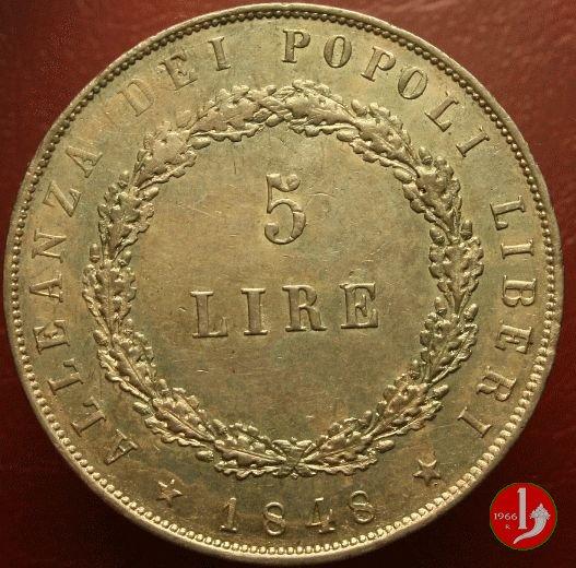 5 lire 11 agosto 1848 1848 (Venezia)