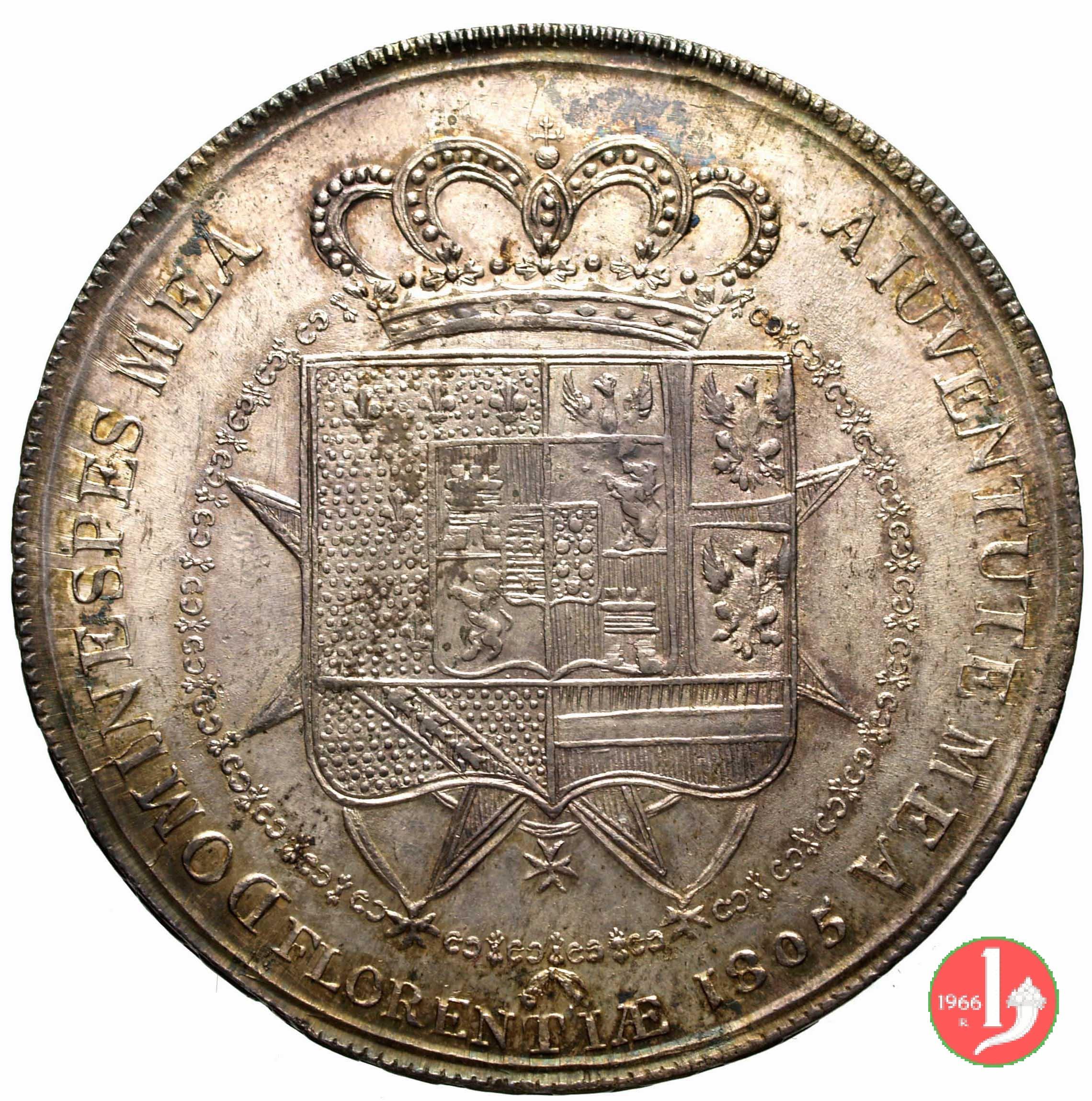 9f916f700d Dena o 10 lire Fiorentine del Regno d'Etruria sotto Carlo Ludovico ...